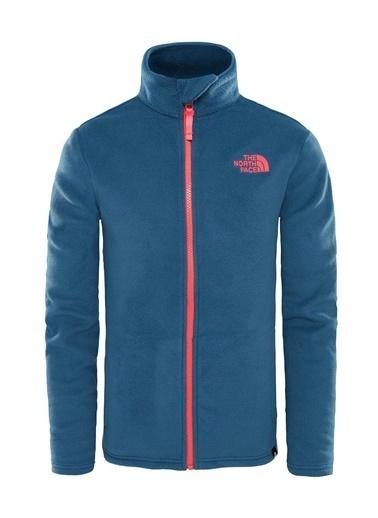 The North Face Snow Quest Full Zip Çocuk Sweatshirt Mavi Mavi